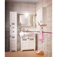 Комплект мебели Бриклаер Кантри 85 Бежевый дуб прованс (зеркало с балюстрадой)