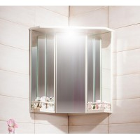 Зеркало-шкаф Бриклаер Кантри 60 Бежевый дуб прованс угловой с балюстрадой