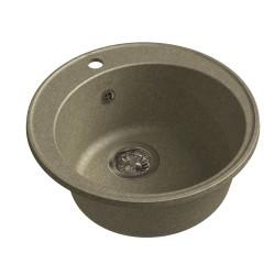 Мойка кухонная Raiber Вацман RQ13 круглая, топаз