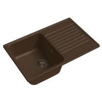 Мойка кухонная Raiber Актерман RQ144 прямоугольная с крылом, шоколад