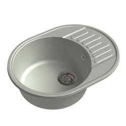 Мойка кухонная Raiber Таумус RQ34 круглая с крылом, бетон
