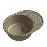 Мойка кухонная Raiber Таумус RQ34 круглая с крылом, топаз