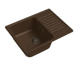 Мойка кухонная Raiber Фогельсберг RQ89 прямоугольная с крылом, шоколад