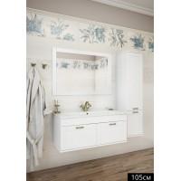 Комплект мебели Sanflor Ванесса 105 подвесная, белая