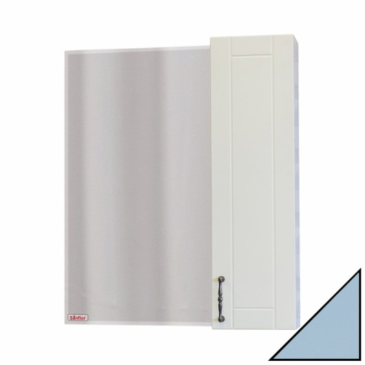 Зеркало-шкаф Sanflor Глория 65 R, серый
