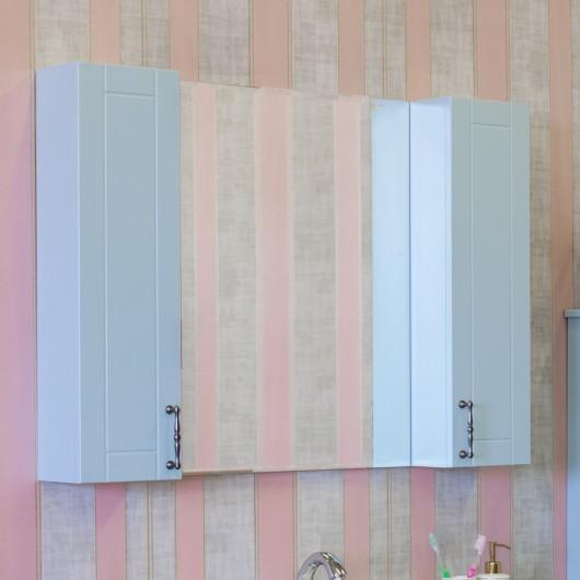 Зеркало-шкаф Sanflor Глория 105 серый