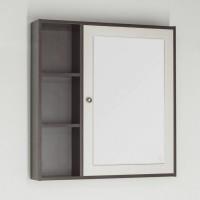 Зеркало-шкаф Style Line Кантри 75 венге, лен белый