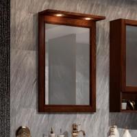 Зеркало Opadiris Клио 56 орех антикварный, с подсветкой