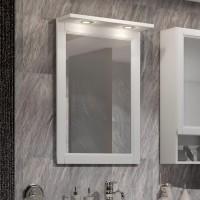 Зеркало Opadiris Клио 56 белый матовый, с подсветкой