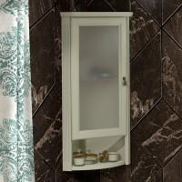 Шкаф Opadiris Клио 32 L, угловой, слоновая кость, матовое стекло