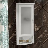 Шкаф Opadiris Клио 32 L, угловой, белый матовый, матовое стекло