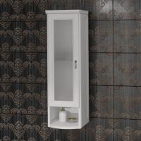 Шкаф Opadiris Клио 30 L, белый матовый, матовое стекло