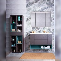 Комплект мебели Бриклаер Кристалл 100, софт графит