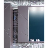 Шкаф навесной Бриклаер Кристалл 20, софт графит