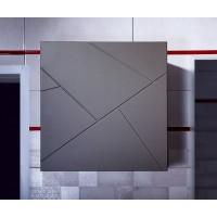 Шкаф навесной Бриклаер Кристалл 60, софт графит