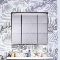 Зеркало-шкаф Бриклаер Кристалл 75, ясень анкор темный