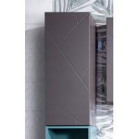 Шкаф навесной Бриклаер Кристалл 90, софт графит