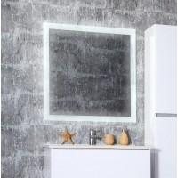 Зеркало Бриклаер Мальта 85 с подсветкой и часами