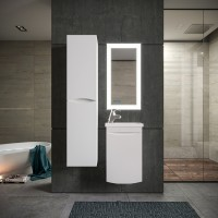 Комплект мебели Бриклаер Вега 40, белый глянец