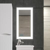Зеркало Бриклаер Вега 40 с подсветкой и часами