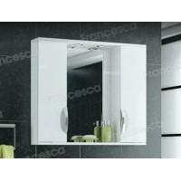 Шкаф-зеркало Francesca Доминго 90 белый 2 шкафа