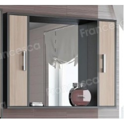 Шкаф-зеркало Francesca Eco 100 дуб-венге