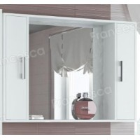 Шкаф-зеркало Francesca Eco 105 белый