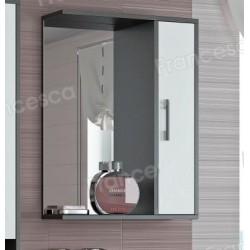Шкаф-зеркало Francesca Eco 50 белый-венге