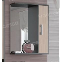 Шкаф-зеркало Francesca Eco 55 дуб-венге