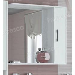 Шкаф-зеркало Francesca Eco 75 белый