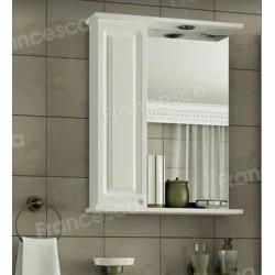 Шкаф-зеркало Francesca Империя 50 белый