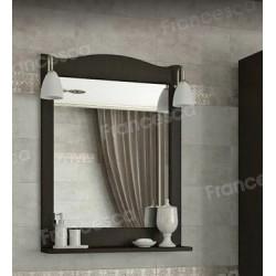 Зеркало Francesca Империя П 60 венге (полотно+светильники Изабель)