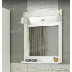 Зеркало Francesca Империя П 60 белый (полотно+светильники Изабель)