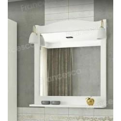 Зеркало Francesca Империя П 70 белый (полотно+светильники Изабель)