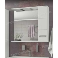 Зеркало-шкаф Francesca Кубо 80 2С белый