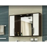 Шкаф-зеркало Francesca Версаль 100 белый/венге 2 шкафа