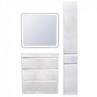 Комплект мебели Style Line Атлантика 80 Люкс Plus напольный бетон крем
