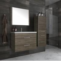 Комплект мебели Style Line Лотос 80 Plus подвесная, шелк зебрано