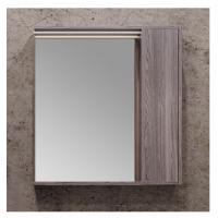 Зеркало-шкаф AQUATON Стоун 80 грецкий орех, с подсветкой