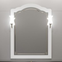 Зеркало Opadiris Лоренцо 80 белый матовый