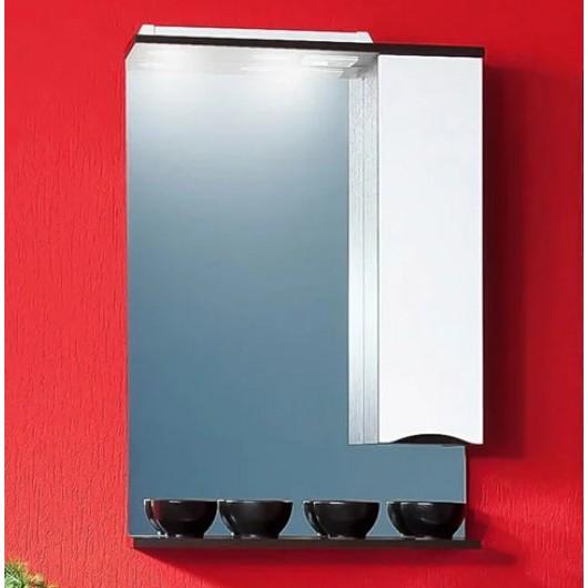 Зеркало-шкаф Бриклаер Токио 60 R венге, белый глянец