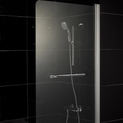 Шторка на ванну 1MarKa P-02 профиль хром, стекло прозрачное