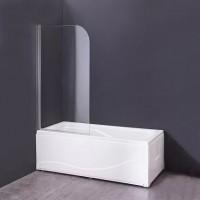 Шторка на ванну Agger A02 080TCR 80х140, стекло прозрачное