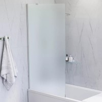 Шторка на ванну AM.PM Gem W90BS-080-140CM стекло матовое