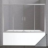 Шторка на ванну BelBagno Unique VF-2-150/180-140-P-Cr стекло punto