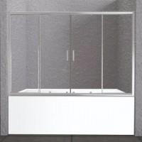 Шторка на ванну BelBagno Unique VF-2-150/180-140-C-Cr стекло прозрачное