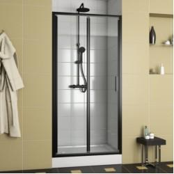 Душевая дверь в нишу Bravat Blackline 100х200 складная