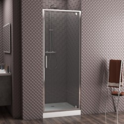 Душевая дверь в нишу Bravat Drop 100x200 распашная