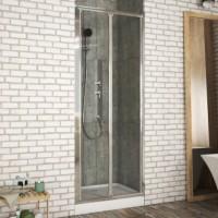 Душевая дверь в нишу Bravat Drop 100x200 складная