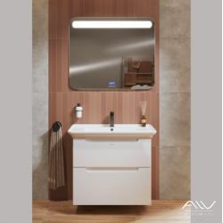 Комплект мебели Alavann Berta 85 белая зеркало Largo Music 100